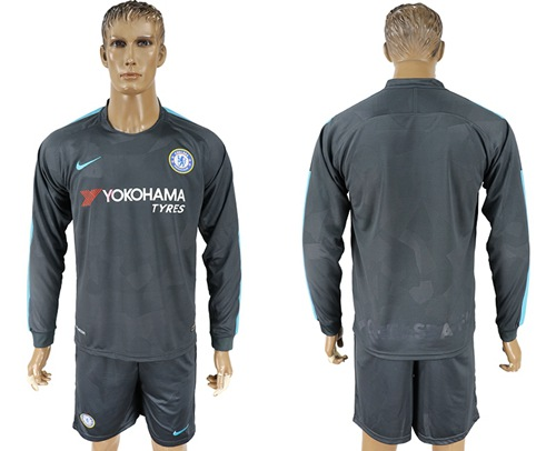 Chelsea Blank Sec Away Long Sleeves Soccer Club Jersey