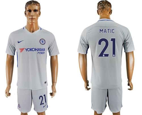 Chelsea #21 Matic Sec Away Soccer Club Jersey