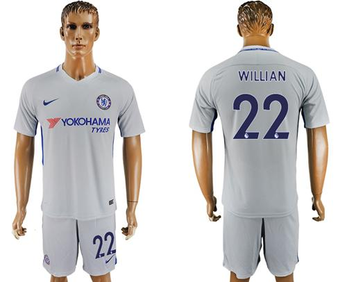 Chelsea #22 Willian Sec Away Soccer Club Jersey