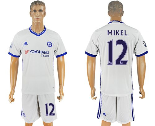 Chelsea #12 Mikel White Soccer Club Jersey