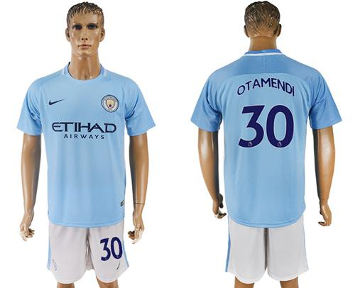 Manchester City #30 Otamendi Home Soccer Club Jersey