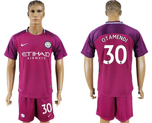 Manchester City #30 Otamendi Away Soccer Club Jersey