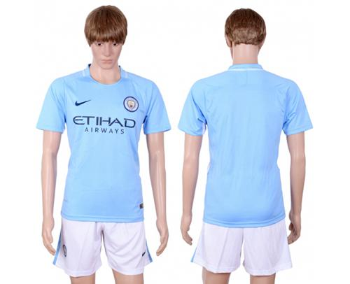 Manchester City Blank Home Soccer Club Jersey