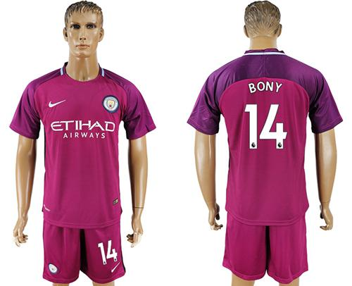 Manchester City #14 Bony Away Soccer Club Jersey