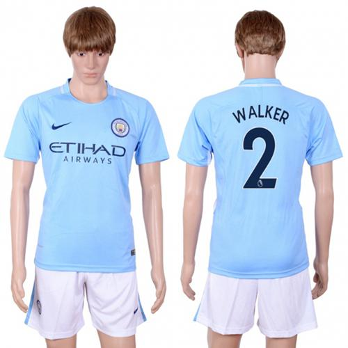 Manchester City #2 Walker Home Soccer Club Jersey