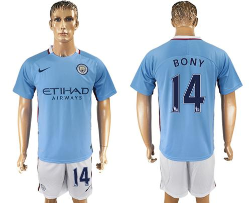 Manchester City #14 Bony Home Soccer Club Jersey