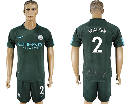Manchester City #2 Walker Sec Away Soccer Club Jersey