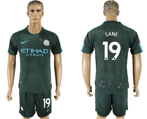 Manchester City #19 Sane Sec Away Soccer Club Jersey