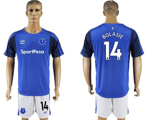 Everton #14 Bolasie Home Soccer Club Jersey