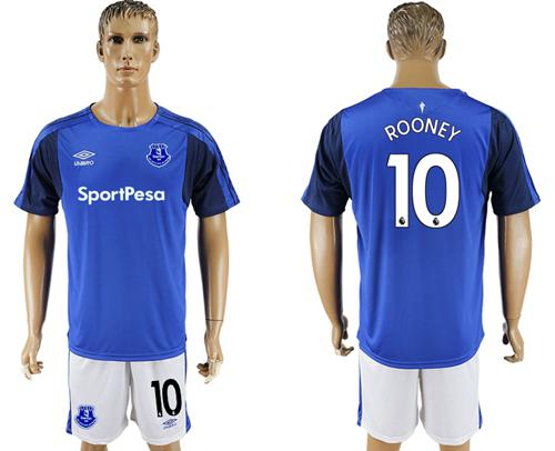Everton #10 Rooney Home Soccer Club Jersey