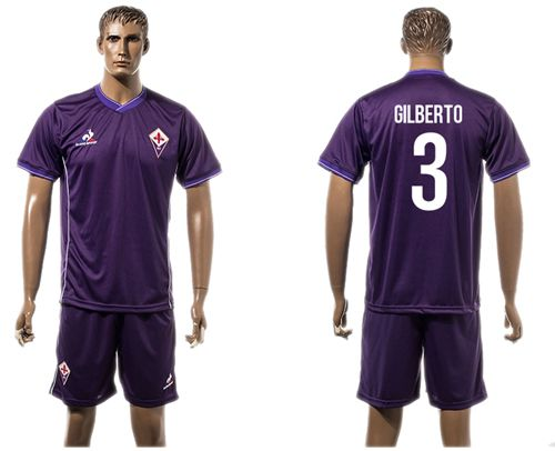 Florence #3 Gilberto Home Soccer Club Jersey