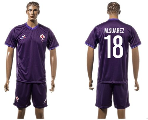 Florence #18 M.Suarez Home Soccer Club Jersey