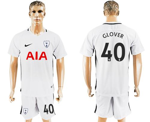 Tottenham Hotspur #40 Glover White Home Soccer Club Jersey