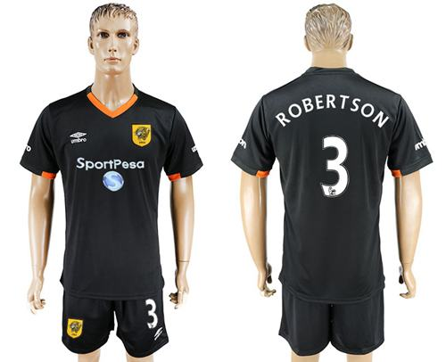 Hull City #3 Robertson Away Soccer Club Jersey