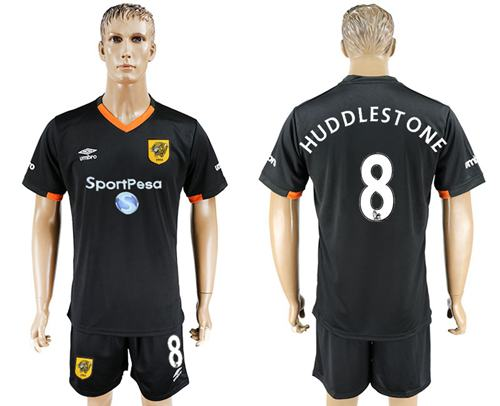 Hull City #8 Huddlestone Away Soccer Club Jersey