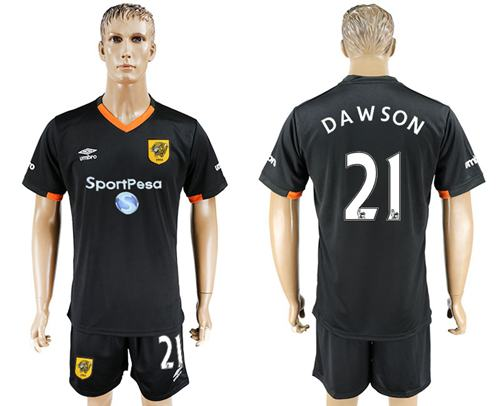 Hull City #21 Dawson Away Soccer Club Jersey