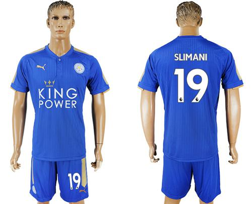 Leicester City #19 Slimani Home Soccer Club Jersey