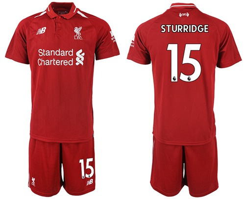 Liverpool #15 Sturridge Red Home Soccer Club Jersey