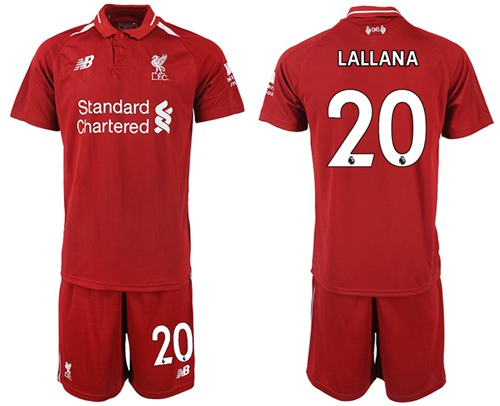 Liverpool #20 Lallana Red Home Soccer Club Jersey