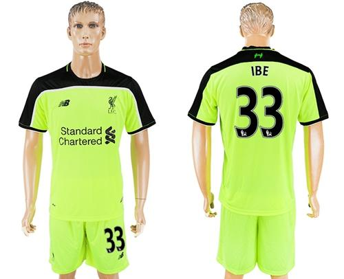 Liverpool #33 IBE Sec Away Soccer Club Jersey