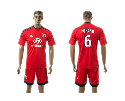 Lyon #6 Fofana Away Soccer Club Jersey