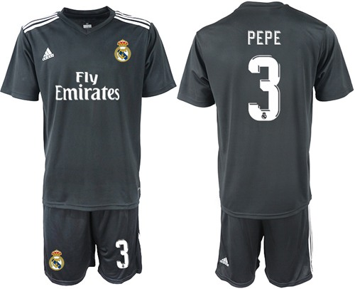 Real Madrid #3 Pepe Away Soccer Club Jersey