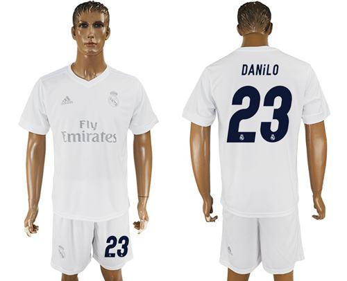 Real Madrid #23 Danilo Marine Environmental Protection Home Soccer Club Jersey