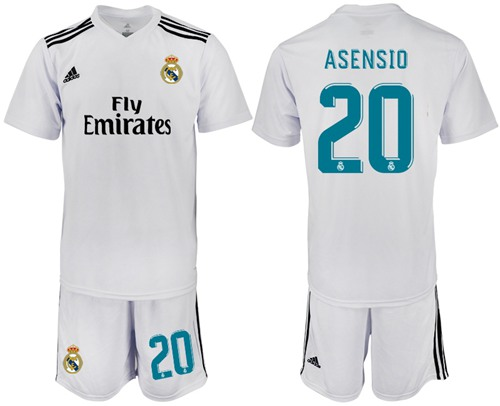 Real Madrid #20 Asensio White Home Soccer Club Jersey