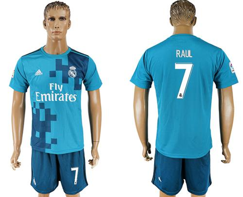 Real Madrid #7 Raul Sec Away Soccer Club Jersey
