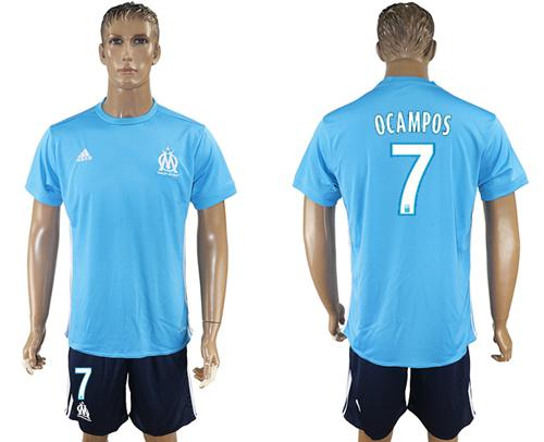 Marseille #7 Ocampos Away Soccer Club Jersey