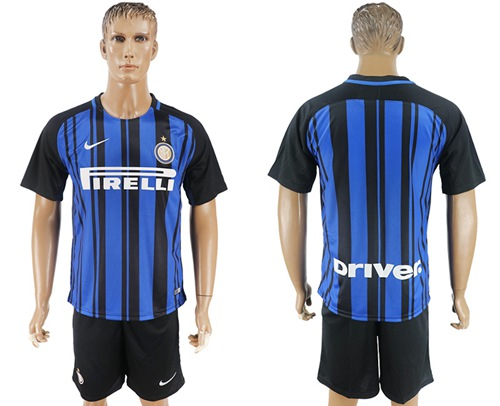 Inter Milan Blank Home Soccer Club Jersey