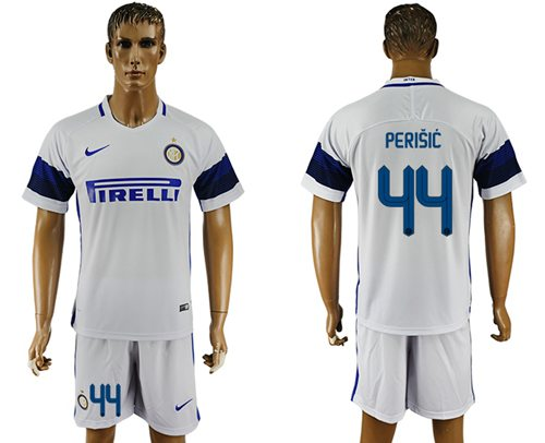 Inter Milan #44 Perisic White Away Soccer Club Jersey