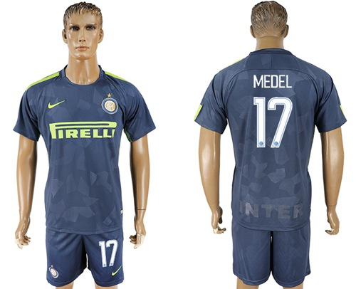 Inter Milan #17 Medel Sec Away Soccer Club Jersey