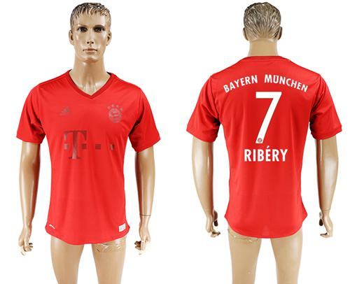 Bayern Munchen #7 Ribery Marine Environmental Protection Home Soccer Club Jersey