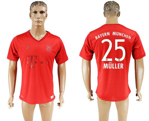 Bayern Munchen #25 Muller Marine Environmental Protection Home Soccer Club Jersey