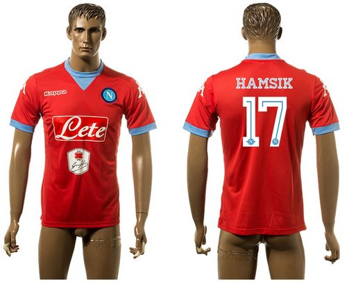 Naples #17 Hamsik Red Away Soccer Club Jersey