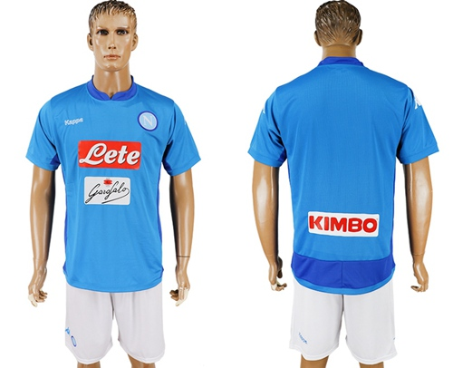 Naples Blank Blue Home Soccer Club Jersey