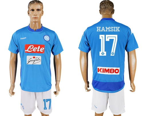 Naples #17 Hamsik Blue Home Soccer Club Jersey