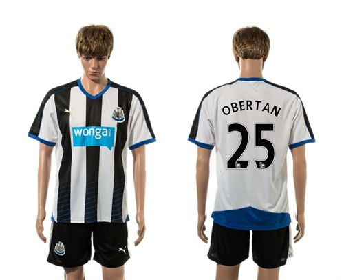 Newcastle #25 OBERTAN Home Soccer Club Jersey