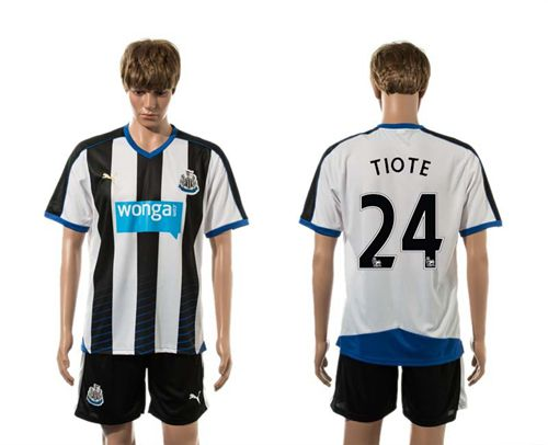 Newcastle #24 TIOTE Home Soccer Club Jersey