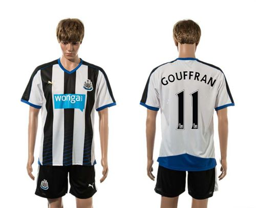 Newcastle #11 GOUFFRAN Home Soccer Club Jersey