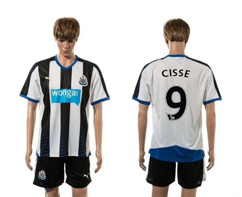 Newcastle #9 CISSE Home Soccer Club Jersey