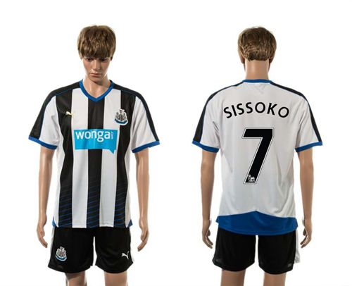 Newcastle #7 SISSOKO Home Soccer Club Jersey