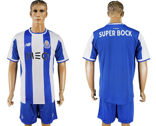 Oporto Blank Home Soccer Club Jersey