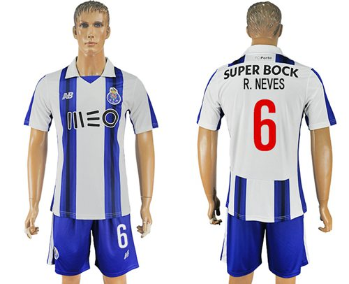 Oporto #6 R.Neves Home Soccer Club Jersey