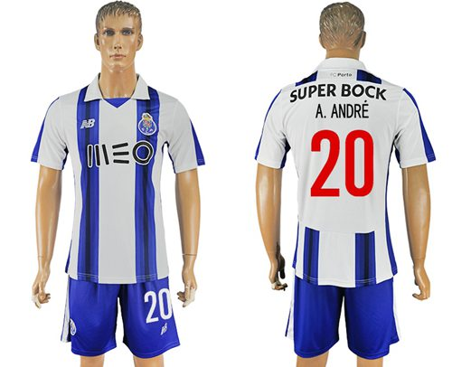Oporto #20 A.Andre Home Soccer Club Jersey
