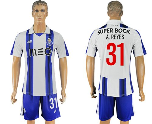 Oporto #31 A.Reyes Home Soccer Club Jersey