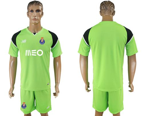 Oporto Blank Shiny Green Goalkeeper Soccer Club Jersey