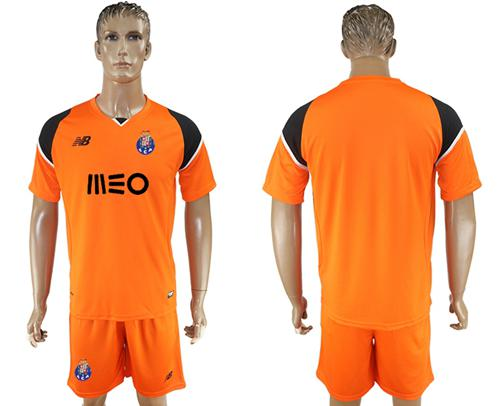 Oporto Blank Orange Goalkeeper Soccer Club Jersey