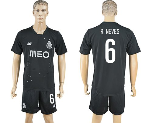 Oporto #6 R.Neves Away Soccer Club Jersey